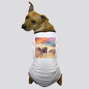 Beautiful Zebras Dog T-Shirt